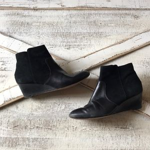 Coach suede leather booties black mystic 8